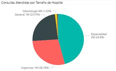 Consultas atendidas por Hospitales Grandes